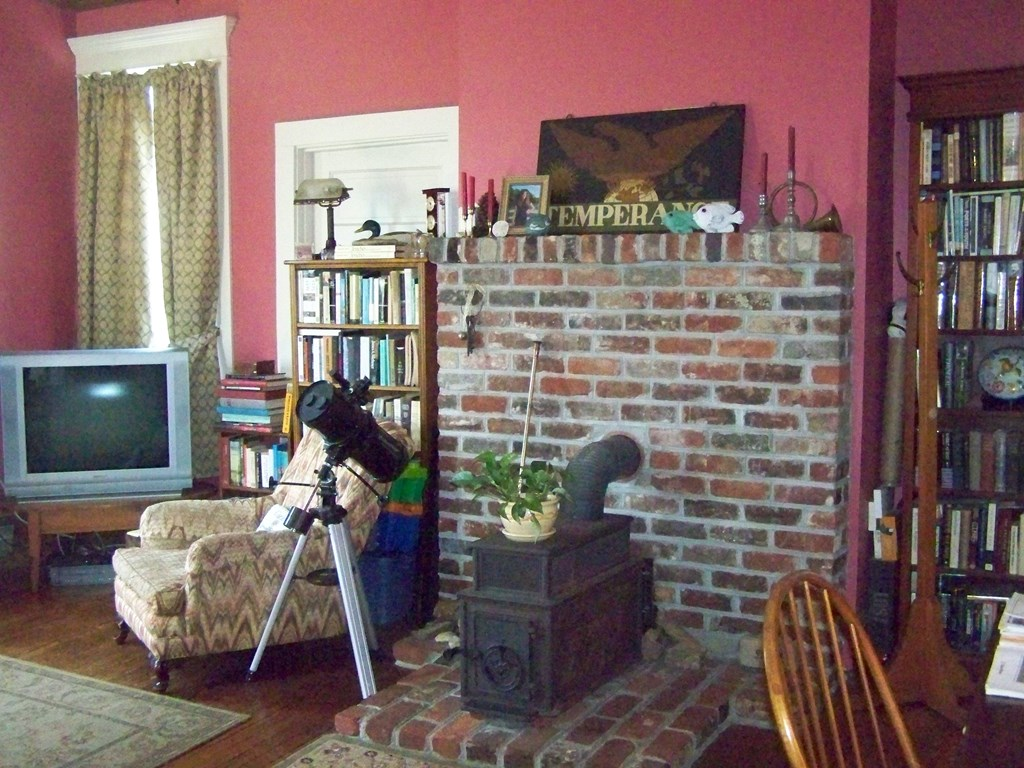 Wood Stove in Family/Bedroom